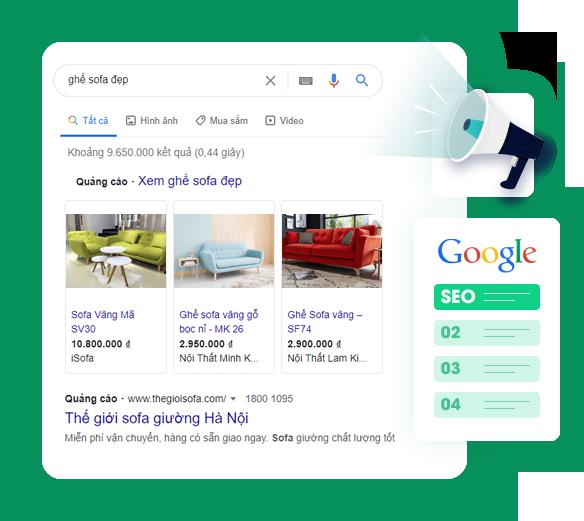 Ekoizi web giúp tối ưu hiệu quả SEO và quảng cáo