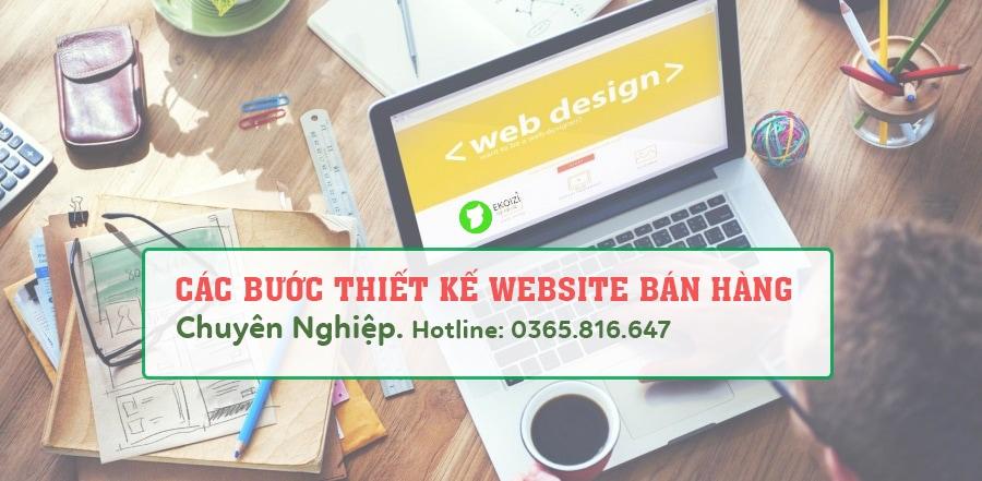 Các bước thiết kế website bán hàng