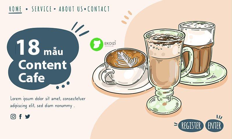 18 mẫu content quán cafe trà sữa siêu thu hút
